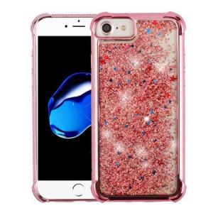 MUNDAZE Rose Gold Motion Glitter Chrome Case For Apple iPhone 7 8 Phone