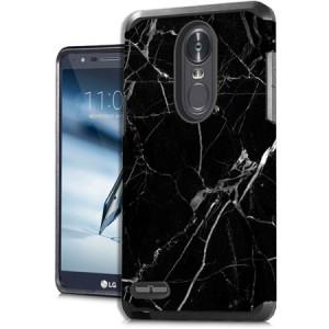 MUNDAZE Black White Marble Design Case For LG Stylo 3 Phone