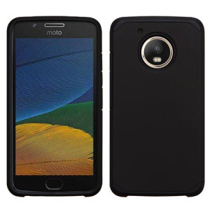 Black Slim Double Layered Case For Motorola Moto E4 Phone