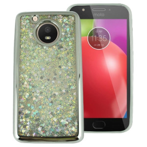 Silver Motion Glitter Chrome Case For Motorola Moto E4 Phone
