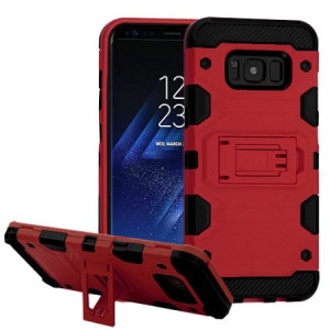 MUNDAZE Red Defense Double Layered Case For Samsung Galaxy Note 8 Phone