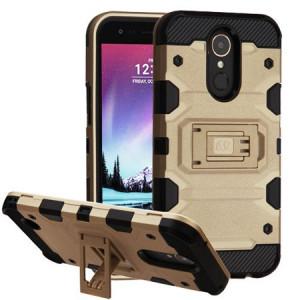 MUNDAZE Gold Defense Double Layered Case For LG Stylo 3 PLUS Phone