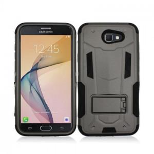 Black Contempo Tech Stand Case For Samsung Galaxy J7 Perx / Halo / J7 Prime Phone