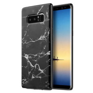Classic Black Marble Design TPU Case For Samsung Galaxy Note 8 Phone