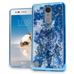 Blue Dreamcatcher Motion Glitter Chrome Case For LG Rebel 2 / K4 (2017) / LV3 Phone