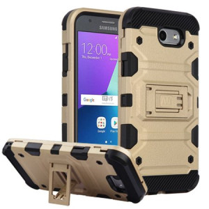 Gold Defense Double Layered Case For Samsung Galaxy Amp Prime 2 / J3 Eclipse / J3 Mission
