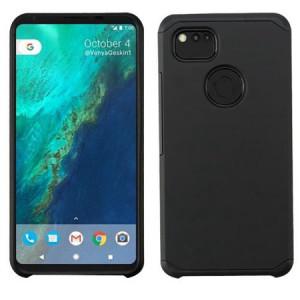 MUNDAZE Black Slim Double Layered Case For Google Pixel XL 2 Phone