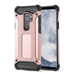MUNDAZE Rose Gold Performance Double Layered Soft and Hard Shell Case For Samsung Galaxy S9 Phone