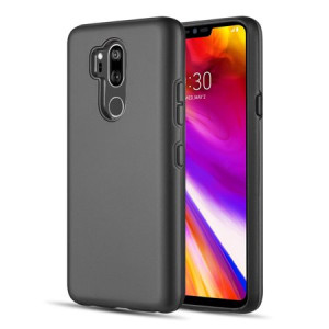 MUNDAZE Black Sleek Series Duo Hybrid Case For LG G7 ThinQ Phone