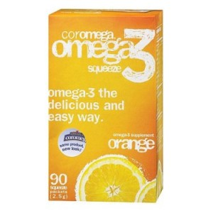 Coromega Omega-3 Squeeze Orange, 90 Ct