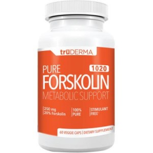 truDERMA Pure Forskolin 1020 Appetite Suppressant Natural Weight Loss Pills, 60 Ct