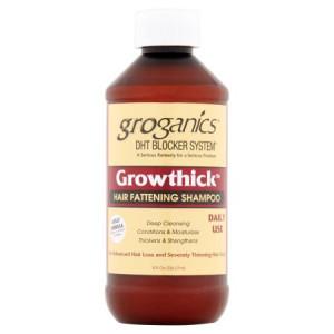 Groganics DHT Blocker System Growthick Hair Fattening Shampoo, 8 fl oz
