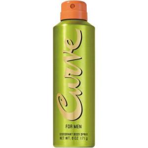 Curve for Men Deodorant Body Spray, 6 oz