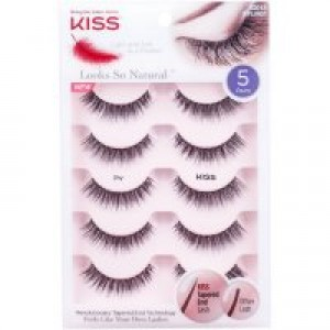 Kiss Looks So Natural Lash Multipack, Shy, 5 Pairs