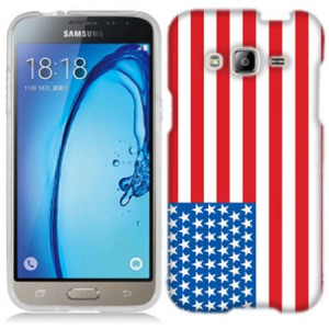 Mundaze American Flag Phone Case Cover for Samsung Galaxy J3