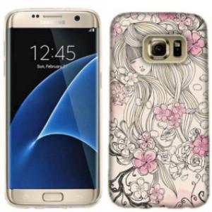 Mundaze Pink Flower Dream Phone Case Cover for Samsung Galaxy S7 edge