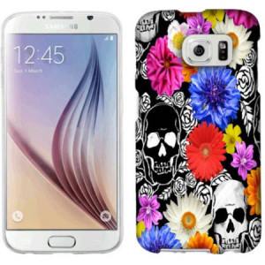 Mundaze Skulls And Flowers Phone Case Cover for Samsung Galaxy S6
