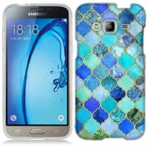 Mundaze Blue Stone Tiles Phone Case Cover for Samsung Galaxy J1 2016 Amp 2