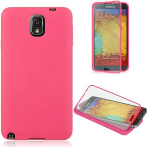 Mundaze Samsung Galaxy Note 3 Wrap-Up Case with Screen Protector Case, Hot Pink