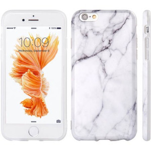 Mundaze Apple iPhone 6/6S TPU Classic White Marble Phone Case