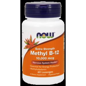 NOW Methyl B-12 Nervous System Health, 10000mcg, 60 Ct