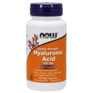 NOW HYALURONIC ACID 100MG 2X PLUS 60 VCAPS