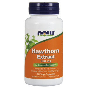 NOW Hawthorn Extract 300 mg Vegetable Capsules, 90 Ct