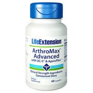 Life Extension ArthroMax Advanced with UC-II and ApresFlex 60 Capsules