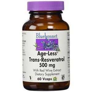 Bluebonnet Age-Less Trans-Resveratrol 500 Mg, 60 Ct