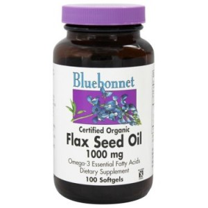 Bluebonnet Flax Seed Oil 1000 mg, 100 Ct
