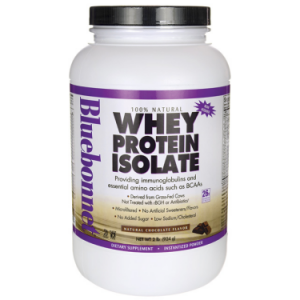 Bluebonnet 100% Natural Whey Protein Isolate 26g, Chocolate, 32 oz