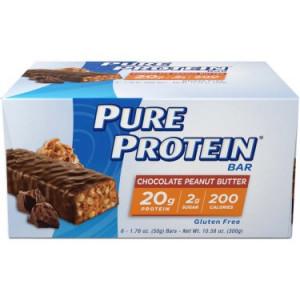 Pure Protein Bar, Chocolate Peanut Butter, 20g Proetin, 6 Ct
