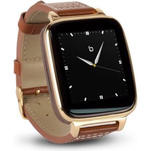 Refurbished BIT Smart Watch BROWN CALFSKIN LEATHER STRAP/GOLD