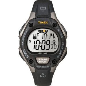 Timex Unisex Ironman Classic 30 Mid-Size Watch, Black Resin Strap