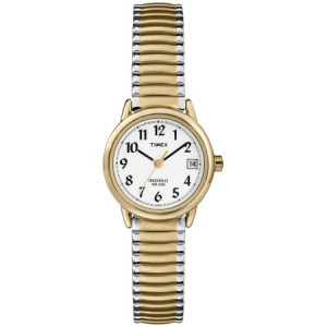 Timex Women's Easy Reader Watch, Two-Tone Stainless Steel Expansion Band