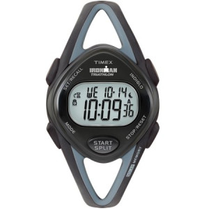 Timex Women's Ironman Sleek 50 Mid-Size Watch, Black Resin Strap