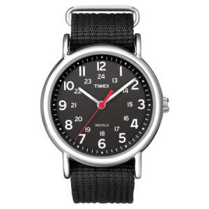 Timex Weekender Watch, Black Nylon Slip-Thru Strap