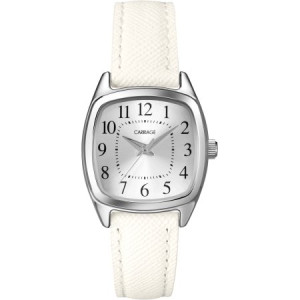 Carriage by Timex Women's Courtney Watch, White Textured Strap
