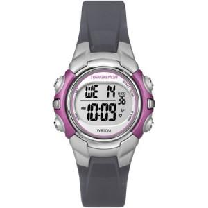 Marathon by Timex Women's Digital Mid-Size Watch, Gray Resin Strap