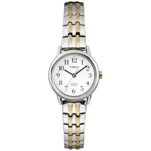Timex Women's Easy Reader Dress Watch, Two-Tone Stainless Steel Expansion Band