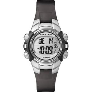 Marathon by Timex Unisex Digital Mid-Size Watch, Black Resin Strap