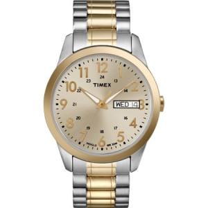 Timex Men's South Street Sport Champagne Dial Watch, Extra Long Stainless Steel Expansion Band