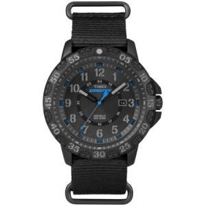 Timex Men's Expedition Gallatin Watch, Black Nylon Slip-Thru Strap