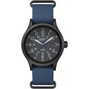 Timex Men's Expedition Scout Watch, Blue Nylon Slip-Thru Strap