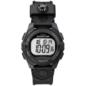 Timex Men's Expedition Digital CAT Black/Gray Watch, Resin Strap