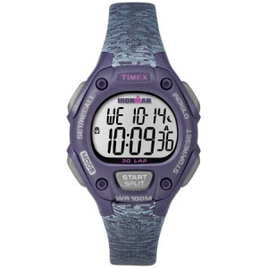 Timex Women's Ironman Classic 30 Mid-Size Purple/Gray Watch, Resin Strap
