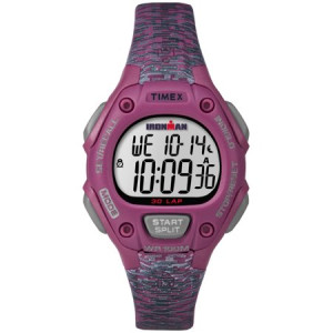 Timex Women's Ironman Classic 30 Mid-Size Pink/Gray Watch, Resin Strap