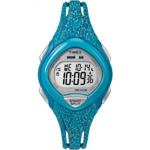 Timex Women's Ironman Sleek 30 Blue Speckled Watch, Resin Strap