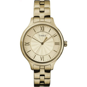 Timex Women's Peyton Watch, Gold-Tone Stainless Steel Bracelet