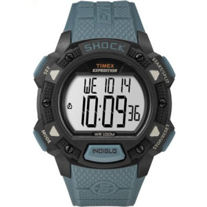 Timex Men's Expedition Base Shock Blue/Black Watch, Resin Strap